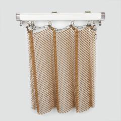 "18 Gauge wire 1/4"" cascade coil mesh drapery"