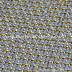 Stainless brass Intercrimp Decorative fabric or architectural Mesh
