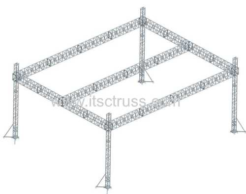 Square Truss System Flat Roof