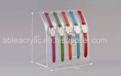 Crystal Clear Custom Acrylic Watch Display Stand