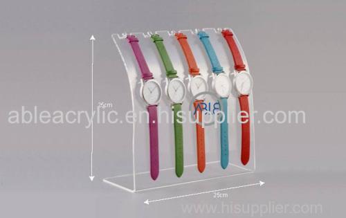 Crystal Clear Custom Acrylic Watch Display Stand