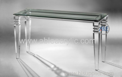 Custom Design Structure Crystal Clear Acrylic Desk Acrylic Furniture