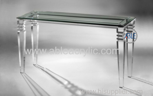 Custom Design Structure Crystal Clear Acrylic Desk Acrylic Furniture