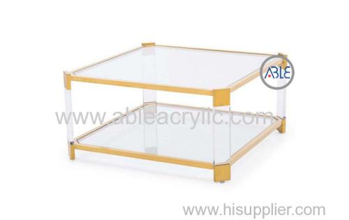 Custom Design Structure Acrylic Tea Table Acrylic Table for Home Use