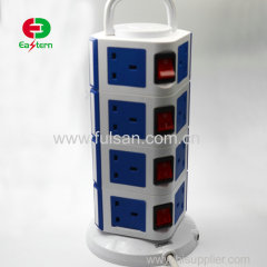 Vertical Intelligent 110v 250v 10a 13a 16a different types Retractable Power Strip Motorized Pop Up Socket Outlet