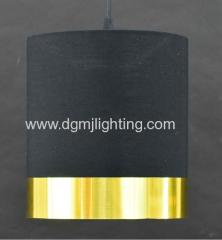 Metallic PVC Banded Cylinder Shade