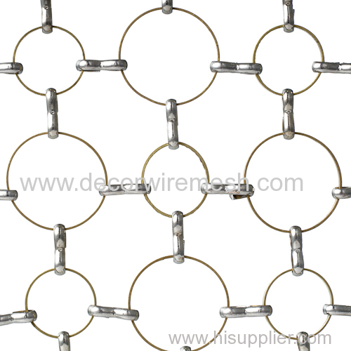 brass ring mesh in golden color