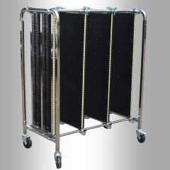 Metal Structure Anti Static Plastic Panel ESD PCB Transport Cart Storage Capacity 300 PCBs Handling Carts Anti-Static