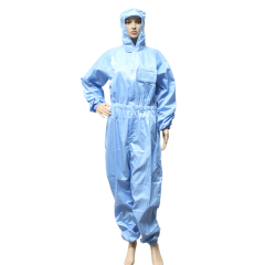 Electrostatic protective clothing for industrial polyester fabrics ESD clothes coverall Anti Static work wear Cleanroom
