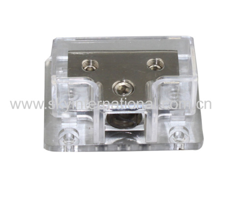 Nickel Plated 1x0Ga In 2x4Ga Out Power distribution Block Car Audio Parts