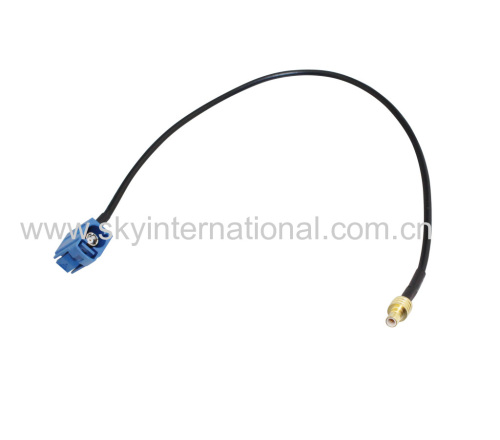 Fakra Female Angled To SMB Male Straight Connector Antenna Adapter