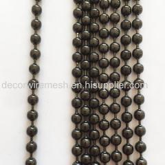 Metal round bead Curtain with Gun Metal Black Color