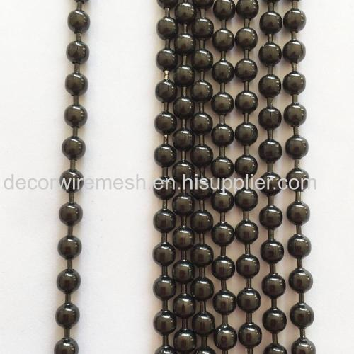 Metal round bead Curtain with Gun Metal Black Color
