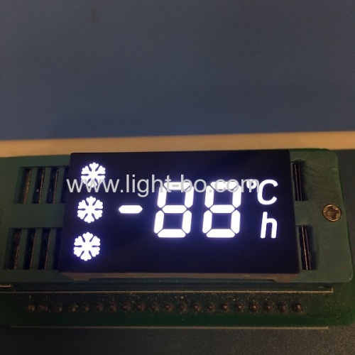 Customized ultra white 7 segment led display common anode for Refrigerator Controller