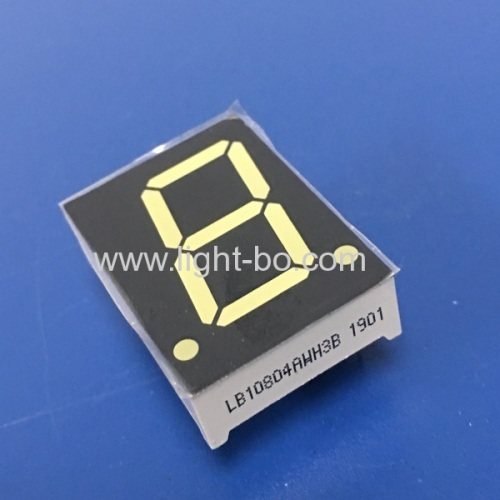 Ultra Briht White common anode 0.8 inch single digit 7 segment led display for EPI / Rate Screens