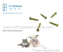 2.0mm Titanium Cortical Stardrive Screw for veterinary use