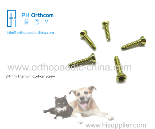 2.4mm Titanium Cortical Stardrive Screw for veterinary
