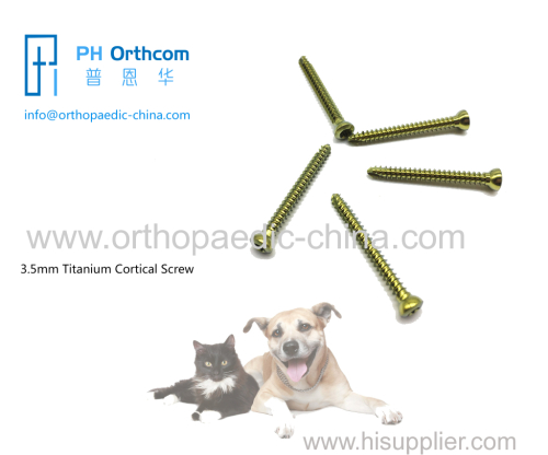 3.5mm Titanium cortical stardrive screw for veterinary use