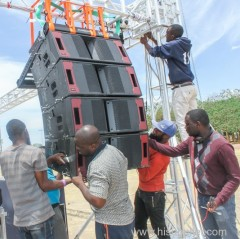 Line Array Speaker Truss rig for outdoor concert