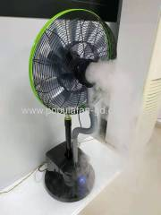 EC Misting Fan With Brushless Permanent Magnet EC motor Wifi Bluetooth Radio Frequency Remote Misting Pedestal Fan