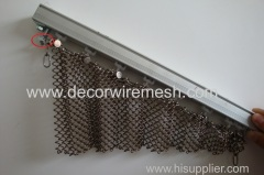 irregular shape curtain installtion metal coil drapery