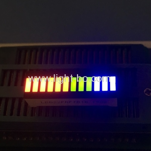 Red/Orange/Green/Blue 12 segment led bar for instrument panel level indicator