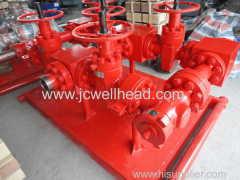 API 16C Gas Testing Manifold with choke valves