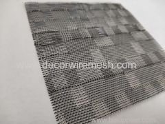 black woven mesh for glass lamination