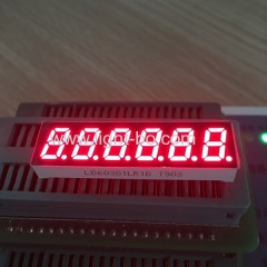 "Small Size 6 Digit 0.3"" common cathode 7 segment led display for instrument panel"
