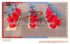 Oilfield Choke Valve Ajustable Welded Type Choke Valve