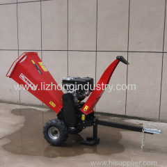 15hp 100mm max chipping industrial wood shredder chipper
