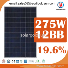 hot sell 275w 12bb polycrystalline solar power panel with cheap price for solar power system
