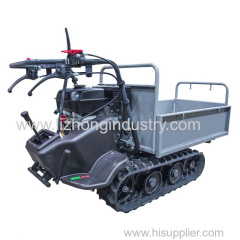 6.5Hp 320Kgs Load Capacity 6+2 Gears Manual Tipping Rubber Track Mini Transporter