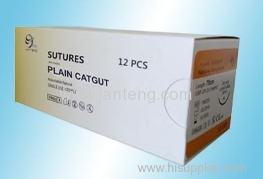 Absorbable plain catgut suture