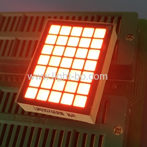 Super Red 5 x 7 Square dot matrix led display For elevator position indicator
