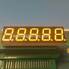"Super bright yellow 0.56"" 5 Digit 7 Segment LED Display Common Anode for process controller"