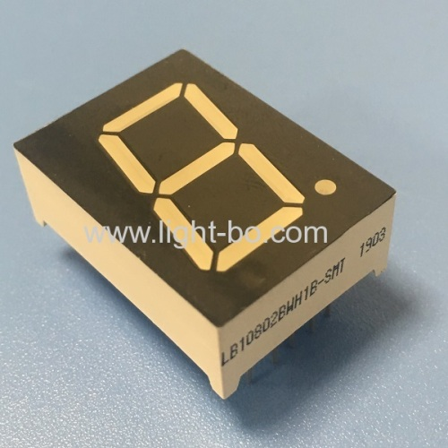 Ultra white 0.8inch 7 Segment led display common anode with White segments