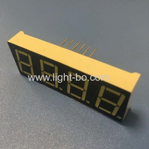 Ultra white 4 digit 14.2mm (0.56 inch) common anode 7 segment led display for Instrument panel