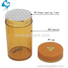 plastic pet bottle for medicine