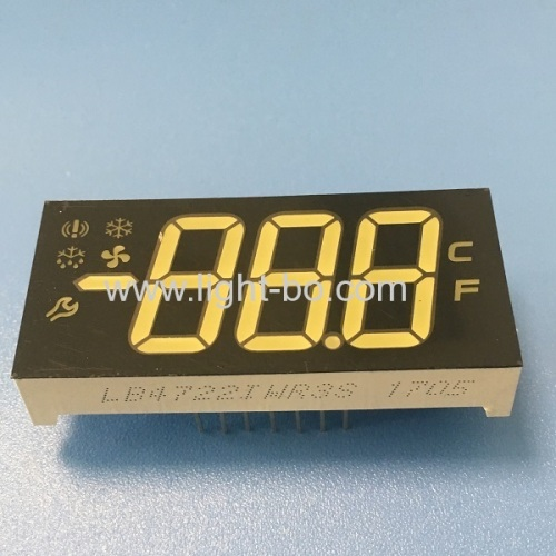 Custom design multicolour Triple Digit 7 segment led display for refrigerator control panel