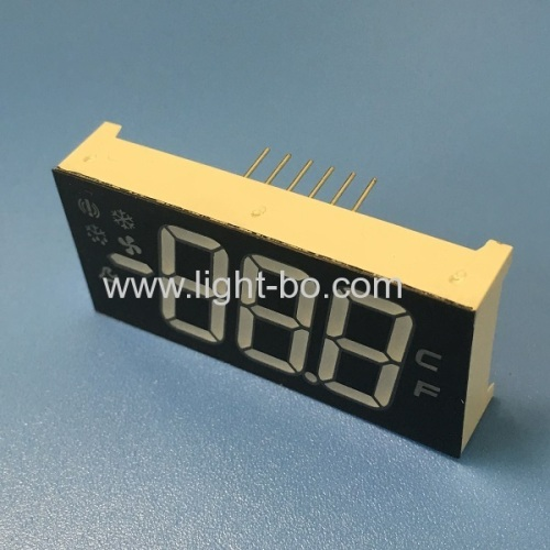 Multicolour Customized triple digit led display module for Refrigerator Control Panel