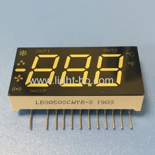 Multicolour Triple Digit LED Display with minus sign for Refrigerator Temperature Controller