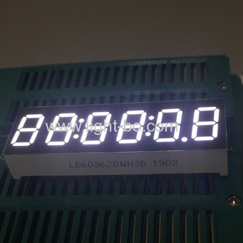 Ultra white 0.36-inch 6 Digit 7 Segment LED clock Display for Instrument panel