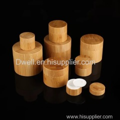 Bamboo Lid Cosmetic Cream Jar Vary Size Eco-friendly Makeup Continaer Skincare Packing