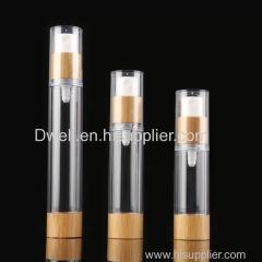Natural Bamboo collar Spray Pump AS Slim Travel Packing Bottle