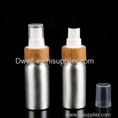 30ml Natural Bamboo Lid Spray Pump Aluminum Bottle