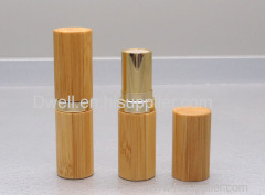 Natural Bamboo Aluminum Empty Lipstick Container Gold