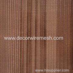 Bronzen mesh for wall decor