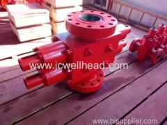 Hydraulic operated double ram Blowout preventer(BOP) API16A