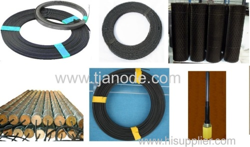 MMO Coated Mesh Ribbon/Ribbon/Rod/Tubular/Wire/Disc/Sheet for ICCP